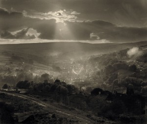 holmfirth from cliff duotone